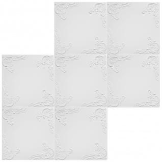 1 qm Deckenplatten Polystyrolplatten Stuck Decke Dekor Platten 50x50cm Nr.101 - Vorschau 3