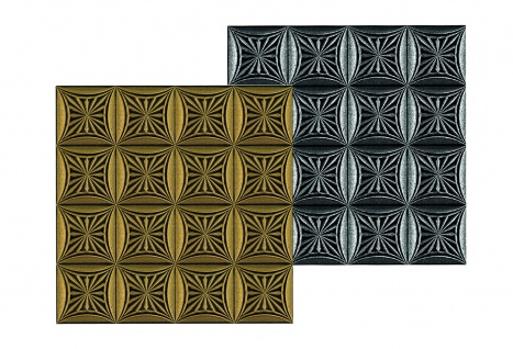 1 qm Deckenplatten Polystyrolplatten Stuck Decke Dekor Platten 50x50cm Nr.81