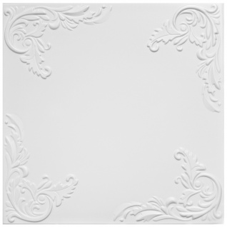 1 qm Deckenplatten Polystyrolplatten Stuck Decke Dekor Platten 50x50cm Nr.101