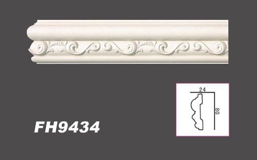 2 Meter PU Flachleiste Profil Innen Dekor stoßfest Hexim 80x24mm | FH9434 - Vorschau 2