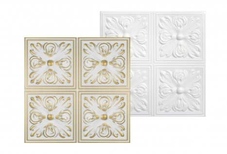 Sparpaket Deckenplatten Polystyrolplatten Decke Dekor Platten 50x50cm Nr.05