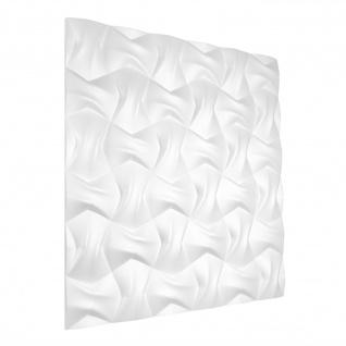 3D Wandpaneele Styroporplatten Wandverkleidung Wanddekor Paneele Bow 1 Platte - Vorschau 4