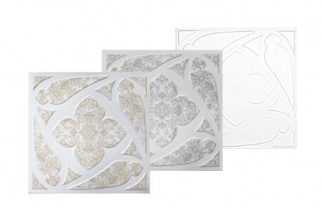 1 qm Deckenplatten Styroporplatten Stuck Decke Dekor Platten 50x50cm Nr.69