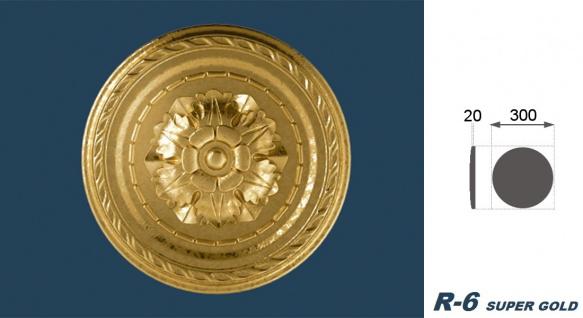 1 Rosette | Decke Stuck Innendekor EPS Dekor Marbet Durchmesser 30cm R-6 - Vorschau 5