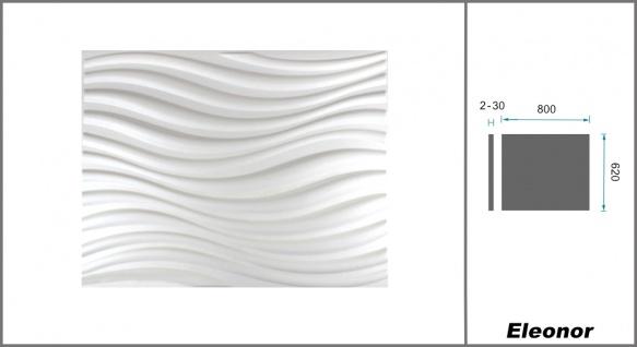 1 qm 3D Platten Natur Stuck ökologisch Paneele 3D Elite Panels 62x80cm Eleanor - Vorschau 2