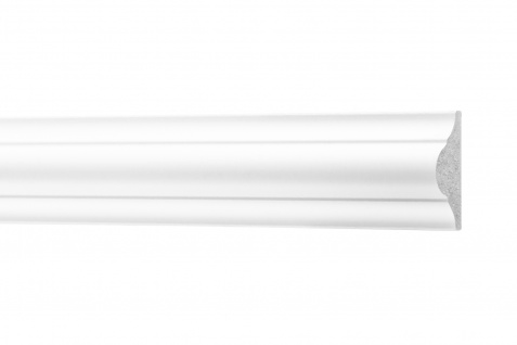 2 Meter Flachleisten HXPS Zierleisten Ecopolimer stoßfest hart Cosca 12x26mm CM1