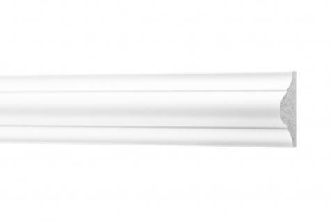 Flachleisten Bordüre stoßfest Zierleiste Stuckprofile hart 26x12mm CM1 | 2 Meter