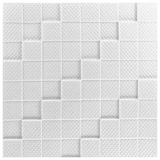 1 qm Deckenplatten Polystyrolplatten Stuck Decke Dekor Platten 50x50cm Manhattan