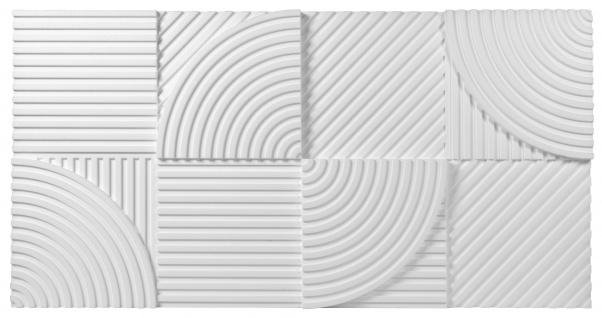1 Platte 3D Paneele Wandverkleidung Wandplatten EPS formfest Marbet 96x48cm PD-4