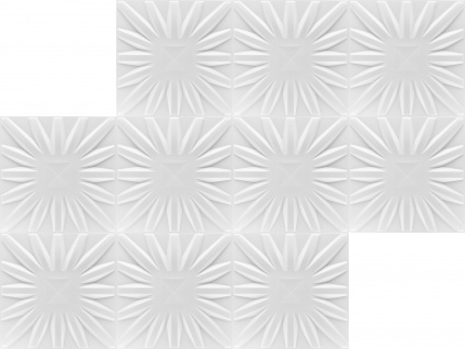 3D Wandpaneele Styroporplatten Wandverkleidung Wanddekor Paneele Sun 1 qm - Vorschau 3