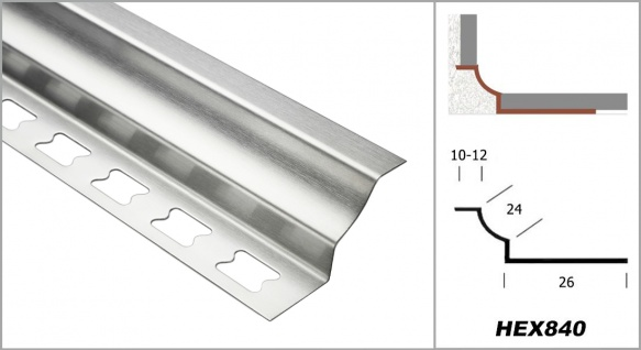 Hohlkehlleiste rund 12mm Fliesenschienen Innenecke Edelstahl silber Sparpaket - Vorschau 2