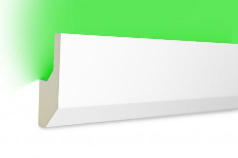 2 Meter LED Profil PU Stuck indirekte Beleuchtung stoßfest Hexim 80x33mm LED-7