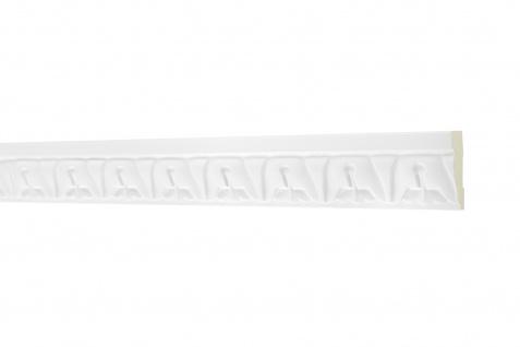 2M Flachprofil 33x14mm - Stuckleiste aus PU gemustert, stoßfest - AC225