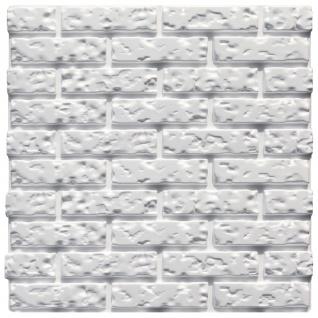 3D Wandpaneele Styroporplatten Wanddekor Ziegeloptik 60x60cm Brick 1 Platte