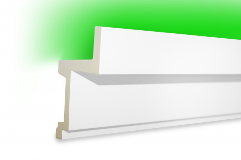 2 Meter LED Profile PU Stuck indirekte Beleuchtung stoßfest Tesori 111x60mm KF705