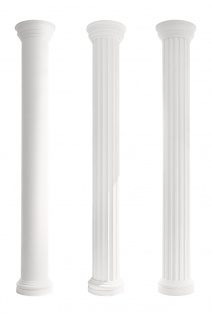 Säulen Halbsäule Fassade rund stabil Stuck Dekor Set Auswahl EPS 405mm LC103