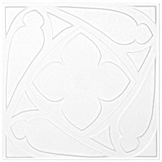 1 qm Deckenplatten Polystyrolplatten Stuck Decke Dekor Platten 50x50cm Nr.69 - Vorschau 2