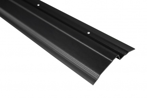 2 Meter   Abdeckprofil für Noppenbahnen   PVC   65x10mm   Lemal   PT6