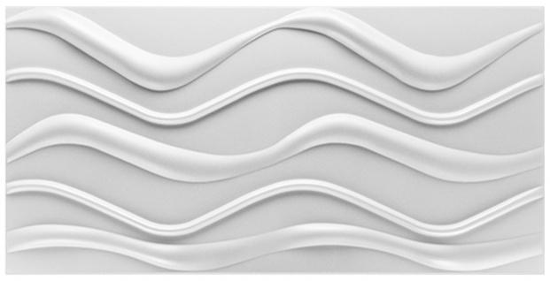3D Paneele | PS Platten | Wand Decke Verkleidung Dekor | 100x50cm | Hexim | Wave SP