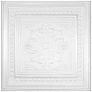 1 qm Deckenplatten Polystyrolplatten Stuck Decke Dekor Platten 50x50cm Nr.36
