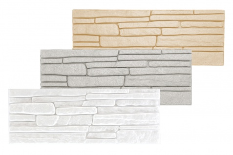 1, 04 qm Dekorsteine Steinoptik Wandplatten Styroporplatten Verblender 48x18cm Rock