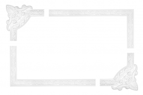 Wand und Deckenumrandung Fries Spiegel Bilderrahmen Stuck Dekor stoßfest AC204