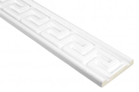 2 Meter | PU Flachleiste Profil Innen Dekor stoßfest | Hexim | 81x15mm | FH9442