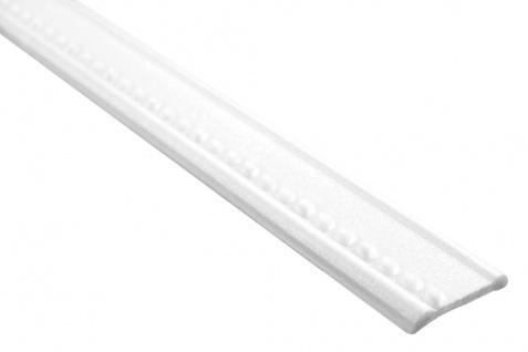 Flachprofil Polystyrolleiste Wand Bordüre Dekor Sparpaket Hexim 7x37mm M-14