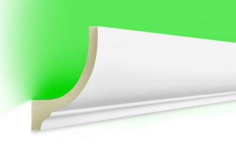 2m LED Stuckleisten aus PU Polyurethane - lichtundurchlässig, Variantenvielfalt & vorgrundiert