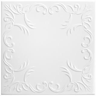 1 qm Deckenplatten Polystyrolplatten Stuck Decke Dekor Platten 50x50cm Nr.30
