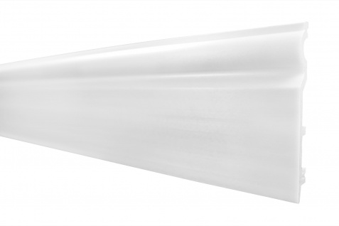 2 Meter Sockelleiste Frankfurter Fußleiste stoßfest HXPS 120x15mm HF-2