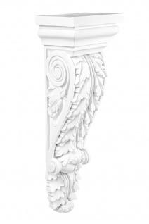 Konsole Wanddeko Stuck Wand Verzierung Antik Barock Dekor stabil 150x110mm C8045