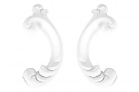 1 Ornament Dekorelement PU Stuckdekor Innen Wanddekor stoßfest 70x140mm, W863L/R