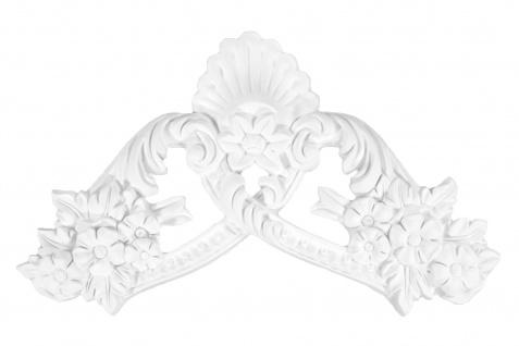 1 Ornament Dekorelement PU Stuckdekor Innen Wanddekor stoßfest 490x290mm, W861