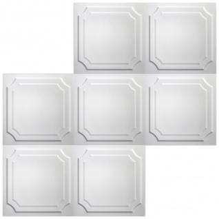 1 qm Deckenplatten Polystyrolplatten Stuck Decke Dekor Platten 50x50cm Nr.03 - Vorschau 4