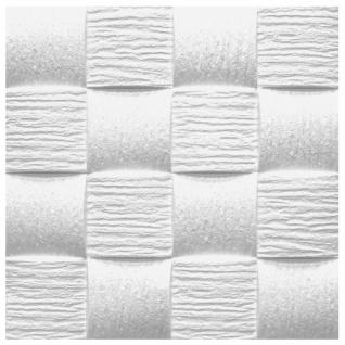 Sparpaket Deckenplatten Polystyrol Stuck Decke Dekor Platten 50x50cm Welle2