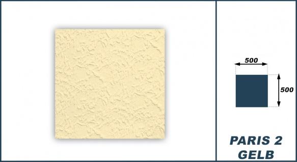 Sparpaket Deckenplatten Polystyrol Stuck Decke Dekor Platten Gelb 50x50cm Paris2 - Vorschau 3