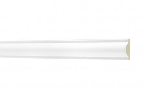 2 Meter Flachleiste 22x10mm - Stuckleiste aus PU glatt, stoßfest - Perfect AD340