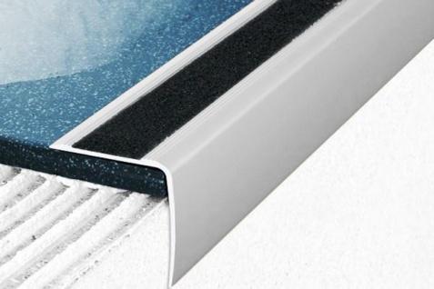 1, 8 Meter Winkel Eckprofile Alu Treppenleiste eloxiert rostfrei 35x35mm A43
