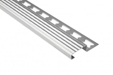 2 Meter Fliesenschiene Treppenkantenprofil Edelstahl Hexim diverse Größen HEX600