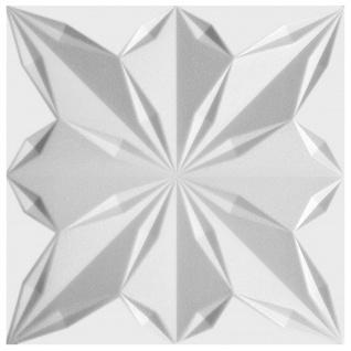 1 qm 3D Paneele Wand Decke Verkleidung Wandplatten Sparpaket 50x50cm Hexim Star