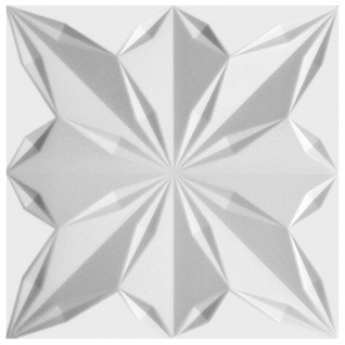 3D Paneel | Styroporplatten | Wandverkleidung | EPS | 50x50cm | Star | 1 qm