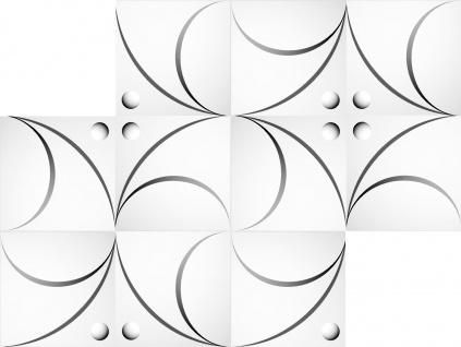 1 qm 3D Platten Natur Stuck ökologisch Paneele 3D Elite Panels 50x50cm Flora 3D - Vorschau 3