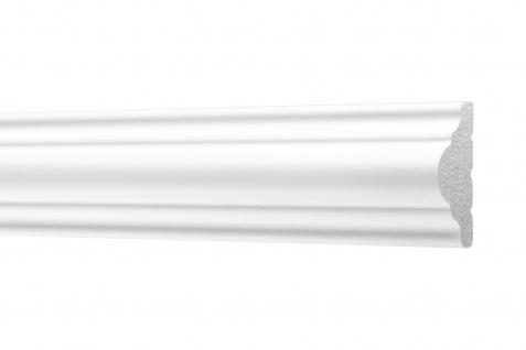 2 Meter Flachleisten HXPS Zierleisten Ecopolimer stoßfest hart Cosca 18x38mm CM9
