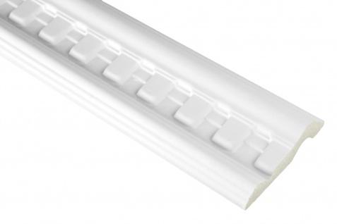 2 Meter | PU Flachleiste Profil Innen Dekor stoßfest | Hexim | 90x23mm | FH9488