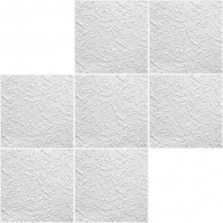 Sparpaket Deckenplatten Polystyrol Stuck Decke Dekor Platten 50x50cm Paris - Vorschau 2