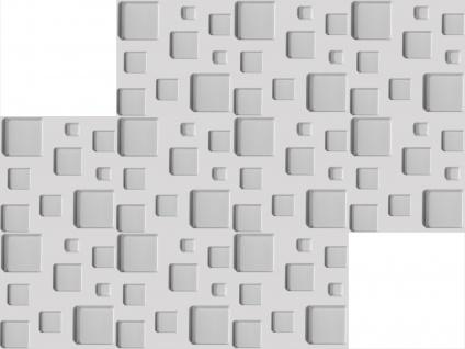 3D Wandpaneele Styroporplatten Wandverkleidung Wanddekor Verblender Cube Sparpaket - Vorschau 3