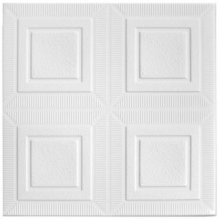 1 qm Deckenplatten Polystyrolplatten Stuck Decke Dekor Platten 50x50cm Nr.65