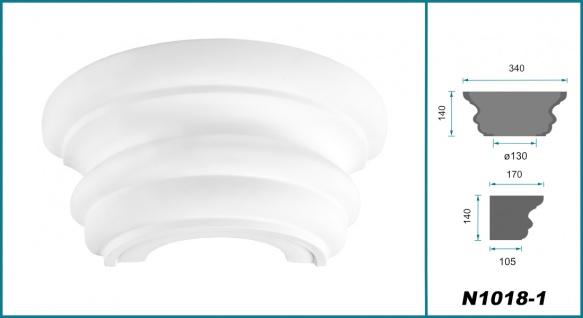 Säulen und Halbsäulen | rund | glatt | Stuck | Auswahl | 180mm | N3218 - Vorschau 2