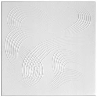 1 qm Deckenplatten Polystyrolplatten Stuck Decke Dekor Platten 50x50cm Nr.84